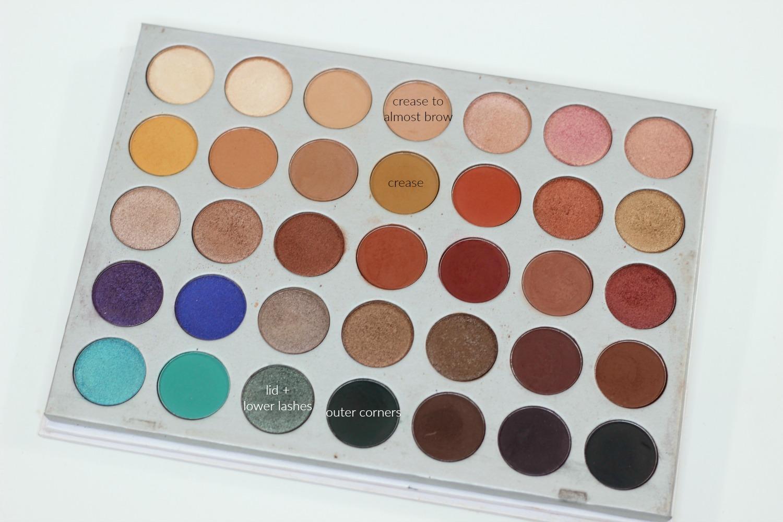 Jaclyn Hill Morphe Palette Looks on Brown Eyes GREEN SMOKEY EYE LOOK HOW TO