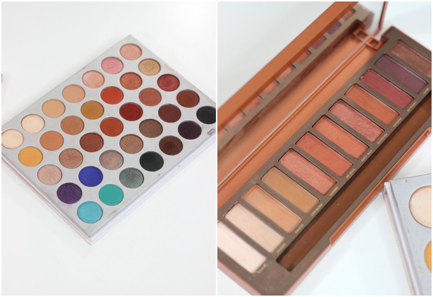 Jaclyn Hill Morphe Palette vs Urban Decay Naked Heat Palette