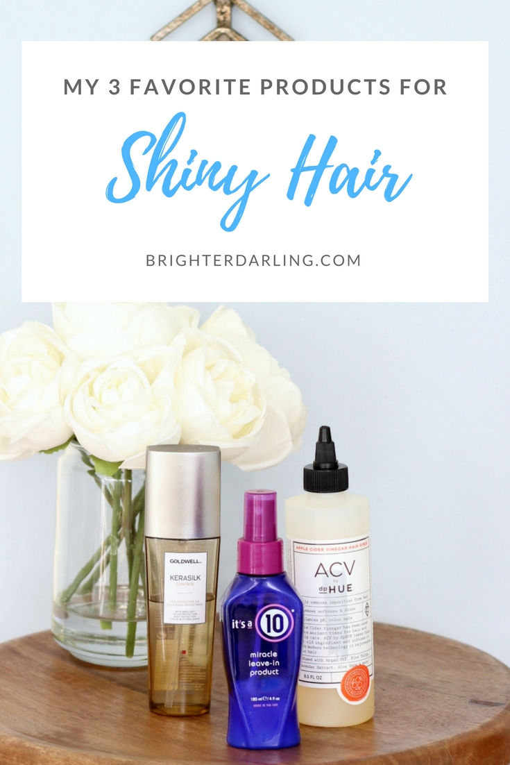 My Favorite 3 Products For Shiny Hair | How To Get Shiny Hair | Shiny Blonde Hair Tips