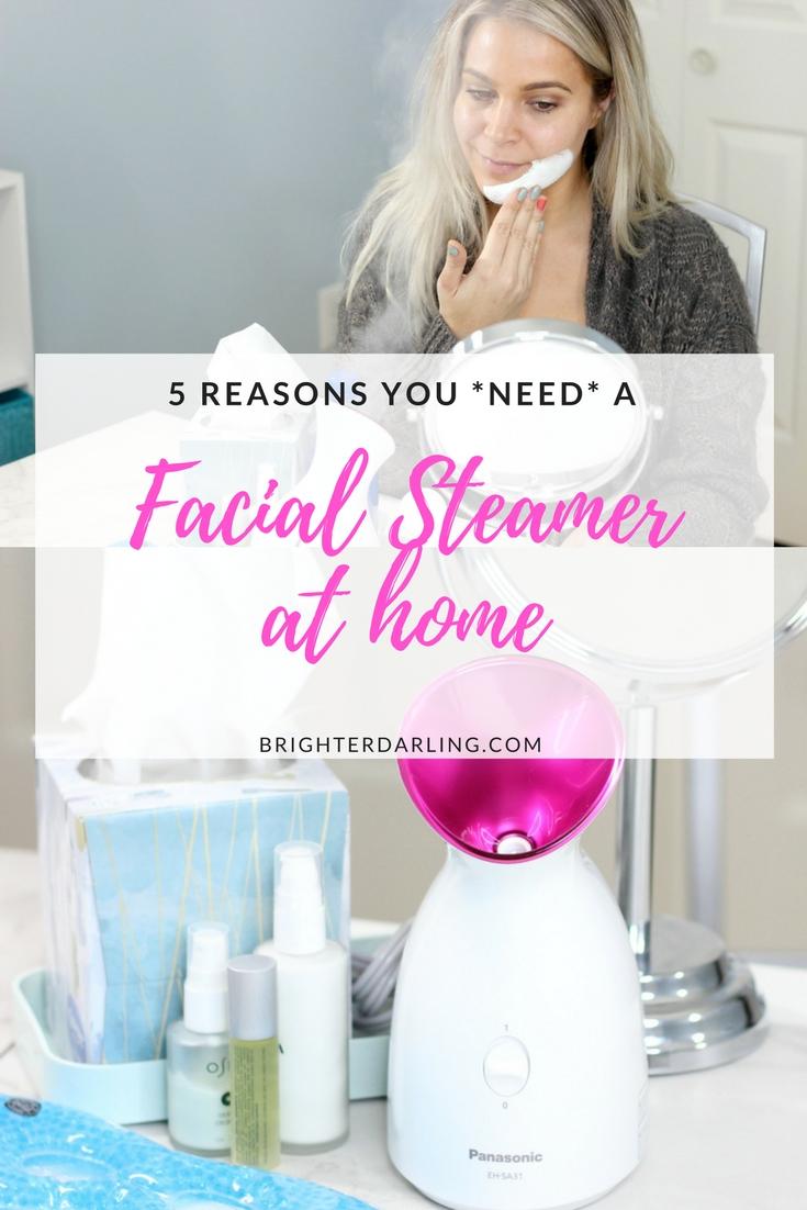 Panasonic Nano Facial Steamer Review - 5 BENEFITS OF FACIAL STEAMING - At Home Facial Steamer - Best At Home Facial Steamer #BeautySteam