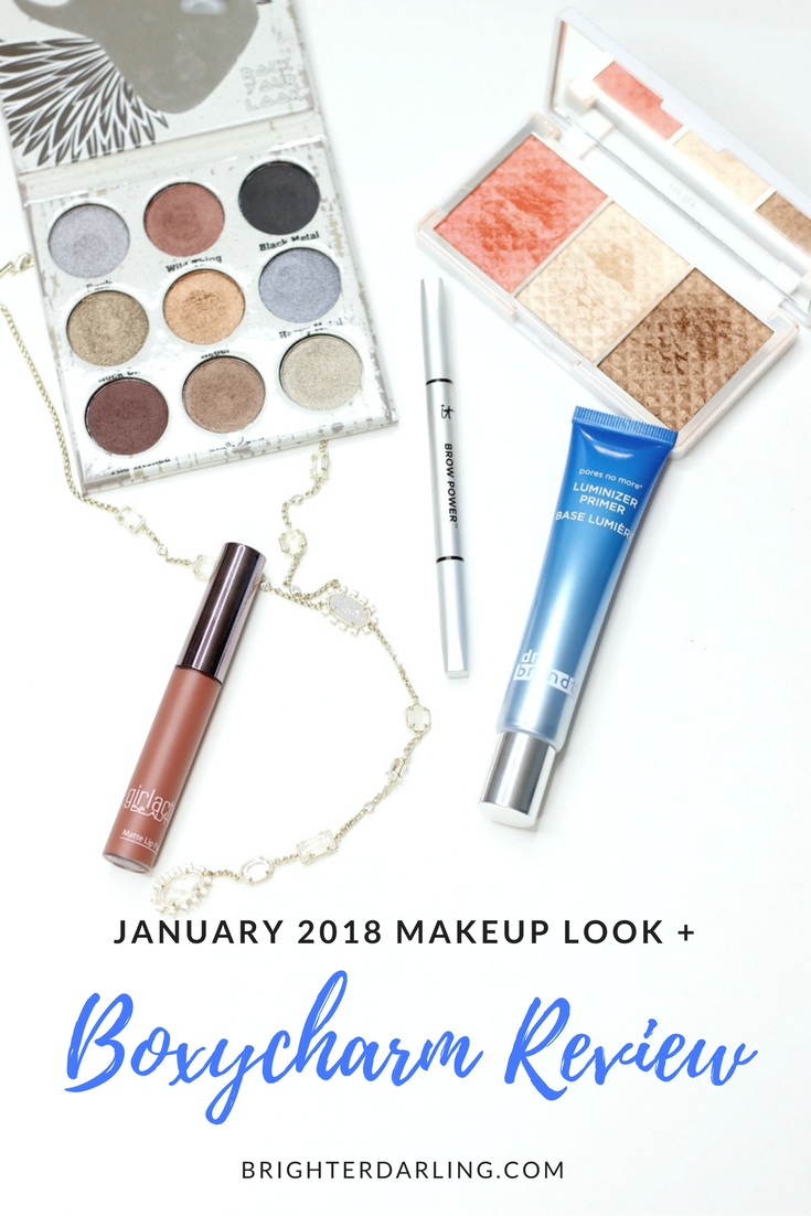 BOXYCHARM January 2018 Review and Makeup Tutorial _ Boxycharm Review _ Is Boxycharm Worth It_