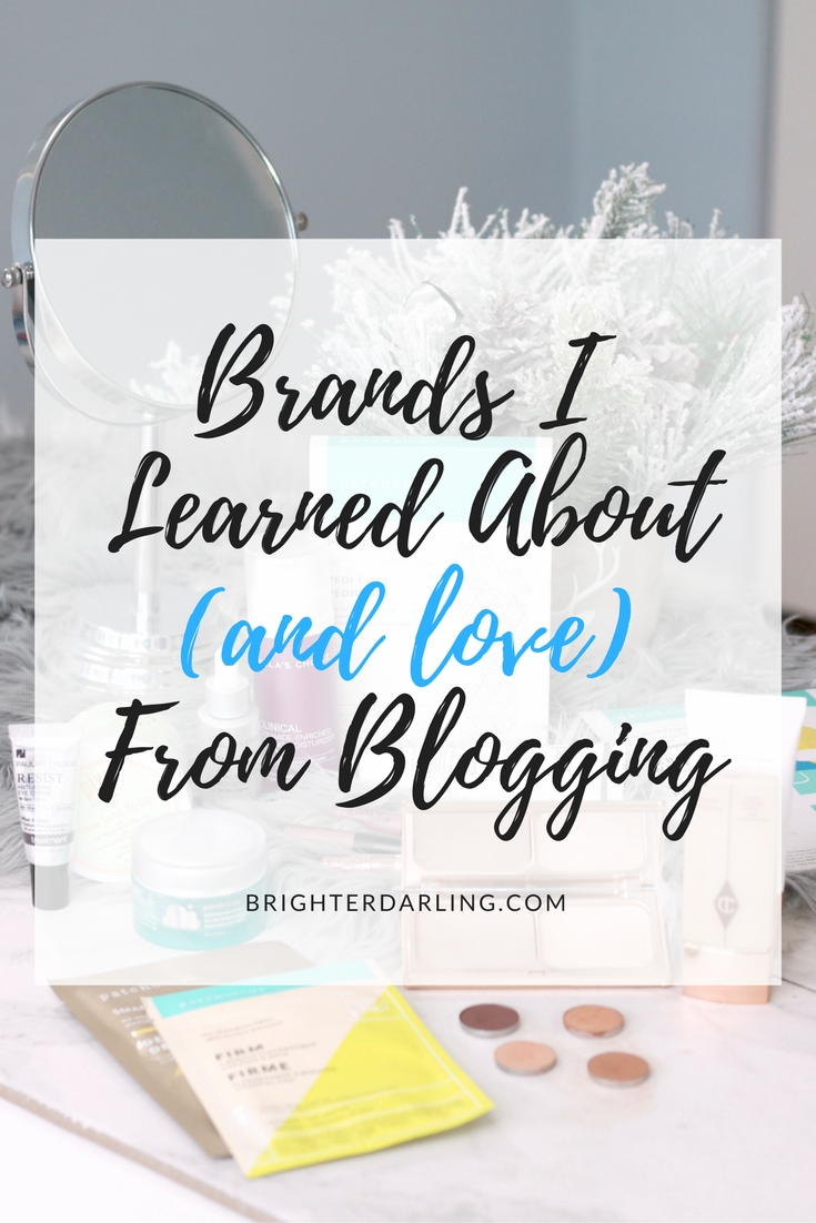 Brands I Learned About From Blogging Including Purlisse, Patchology, Pixi, Charlotte Tilbury, Paula's Choice and ColourPop