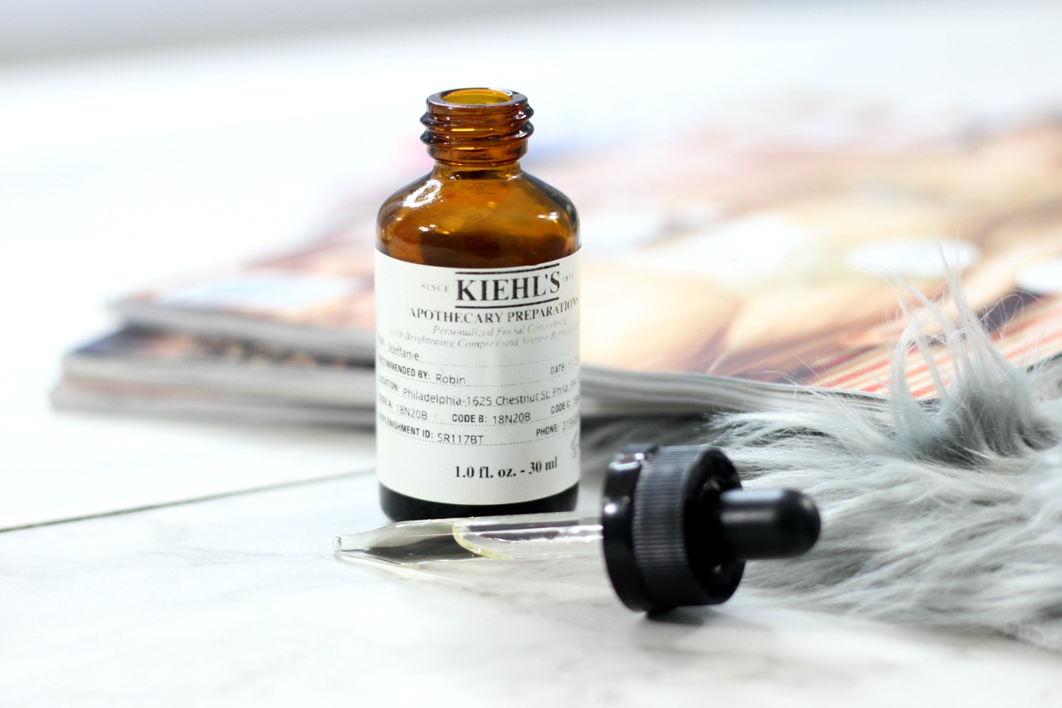 Kiehl's Apothecary Preparations Review - Texture and Clarity Serum