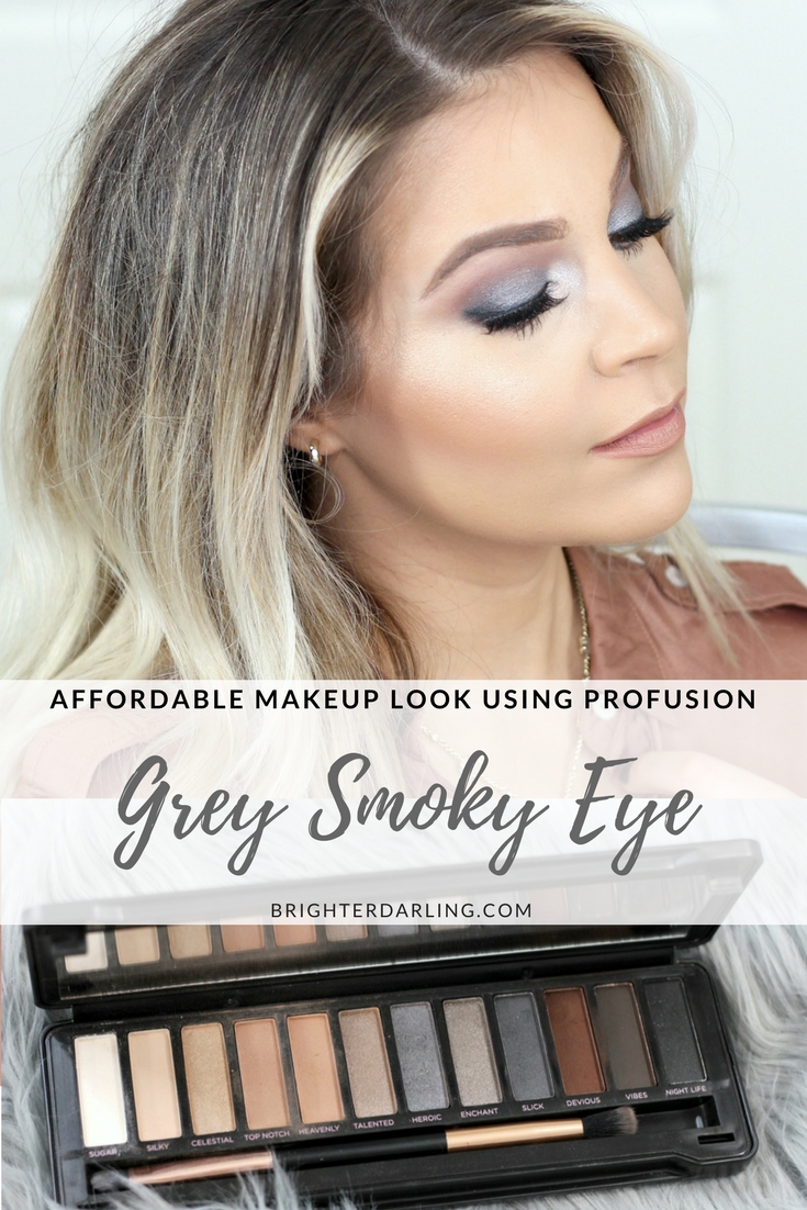 Affordable Grey Smoky Eye Drugstore Makeup Using Profusion Smoky Eye Palette | Grey Smoky Eye On Brown Eyes
