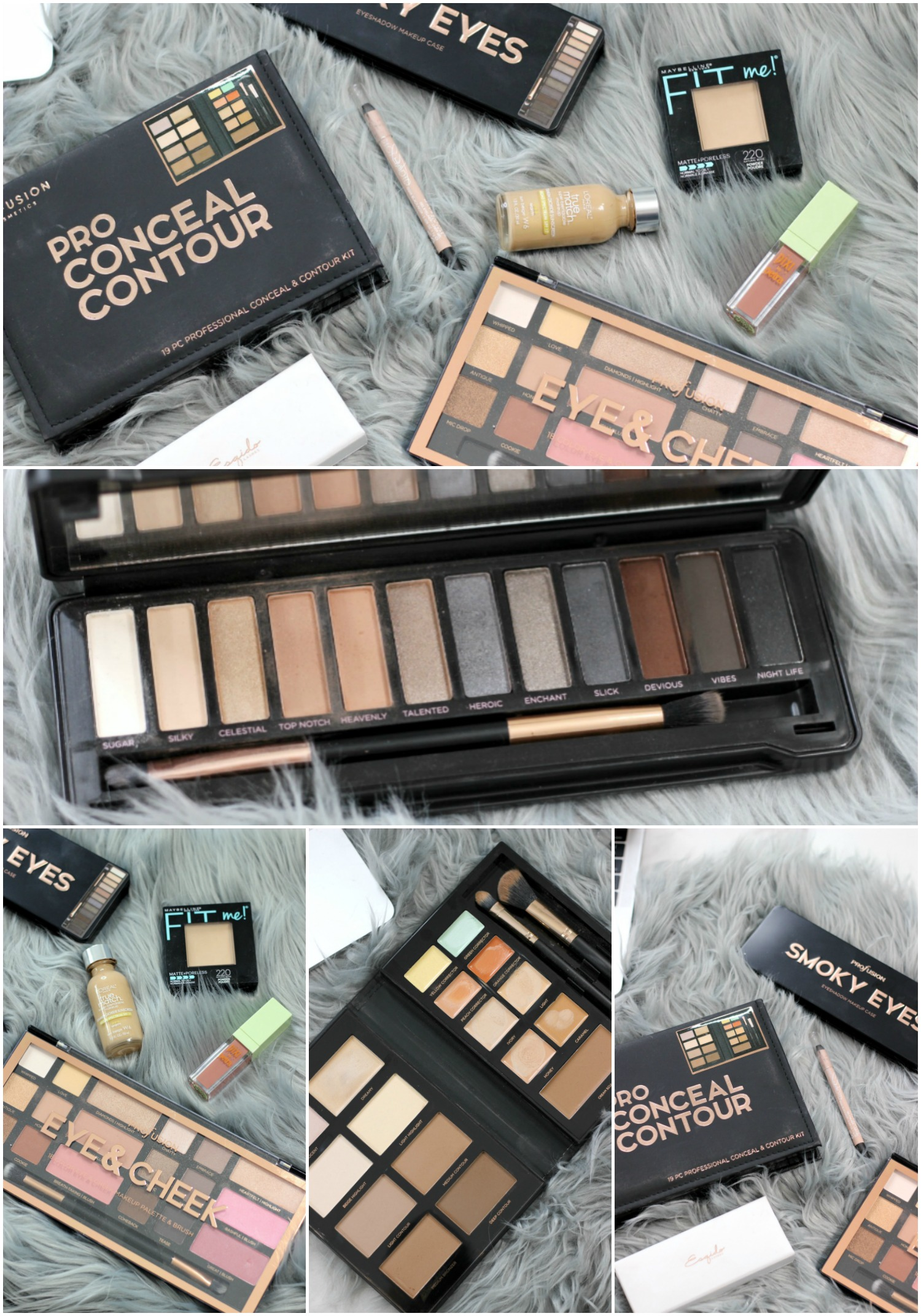 Profusion Cosmetics Eye and Cheek Palette, Profusion Cosmetics Pro Conceal Contour Kit, Profusion Cosmetics Smoky Eye Palette on Brighter Darling Blog