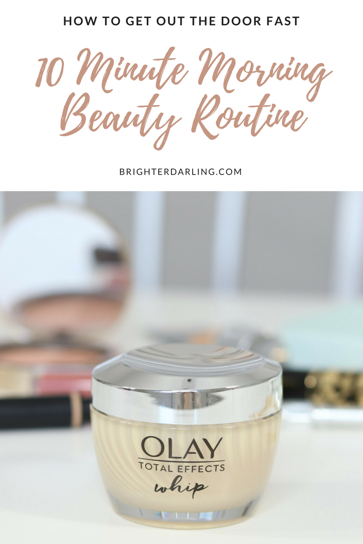 10 Minute Morning Makeup Skincare Routine _ Olay Whips Review _ Lightweight Drugstore Antiaging Moisturizer