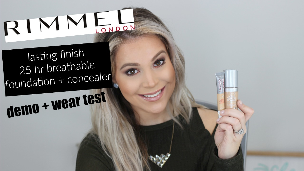 Rimmel Lasting Finish 25hr Breathable Foundation and Concealer Review Wear Test | Brighter Darling
