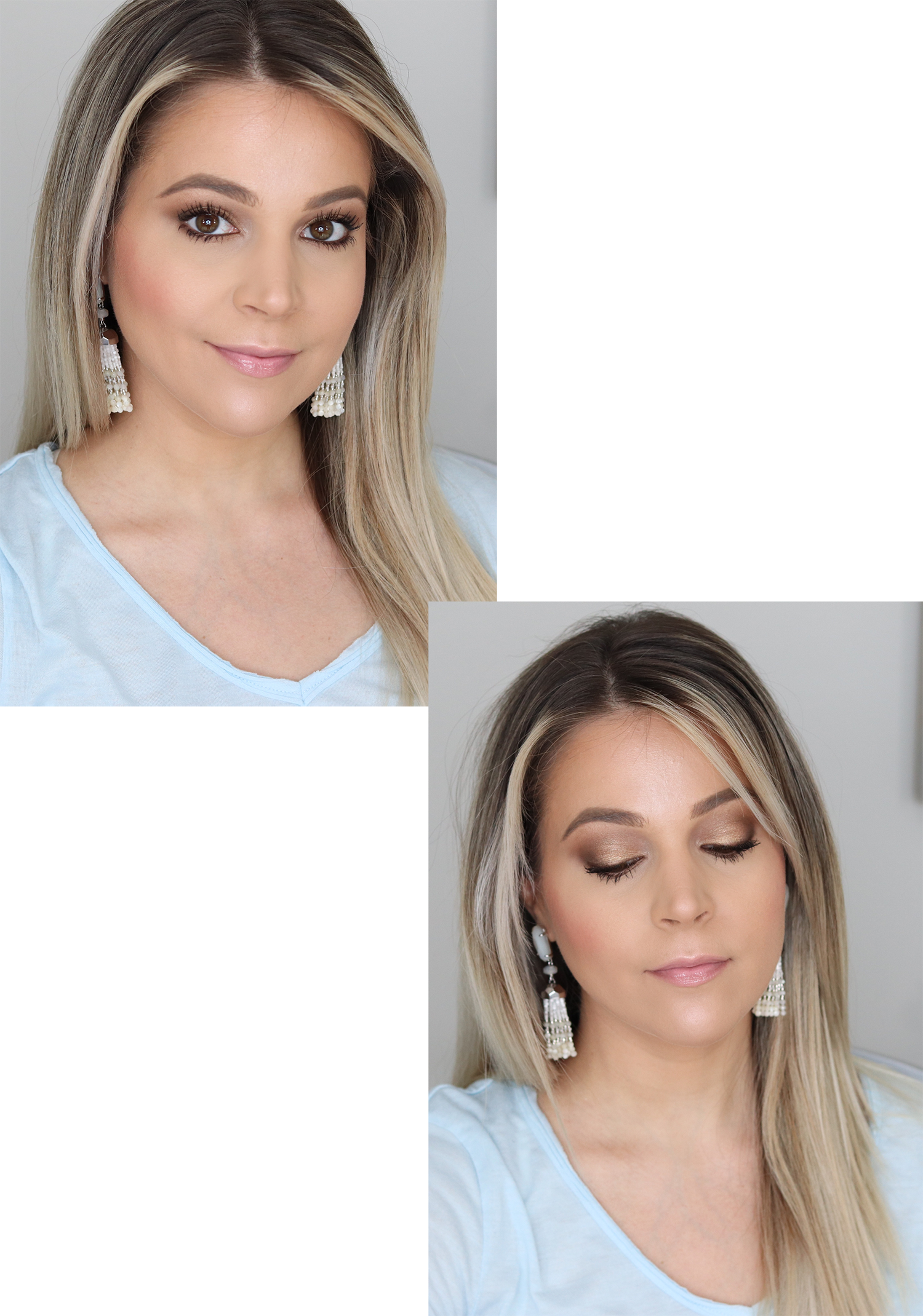 Thrive Causemetics Makeup Look Using Focus Eyeshadow Palette in No. 1, Lash Extensions Mascara and Glossy Lip in Jean | Brighter Darling Beauty Blog