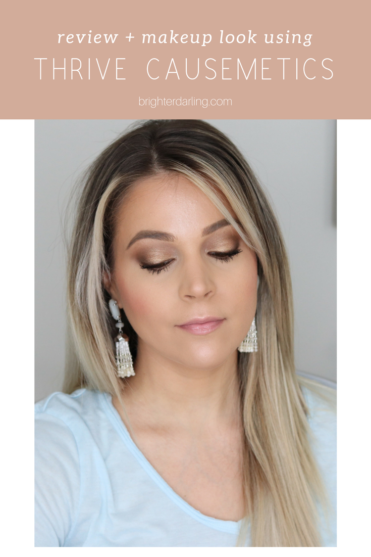 review and makeup look using thrive causemetics _ thrive causemetics review | thrive causemetics focus eyeshadow palette No 1