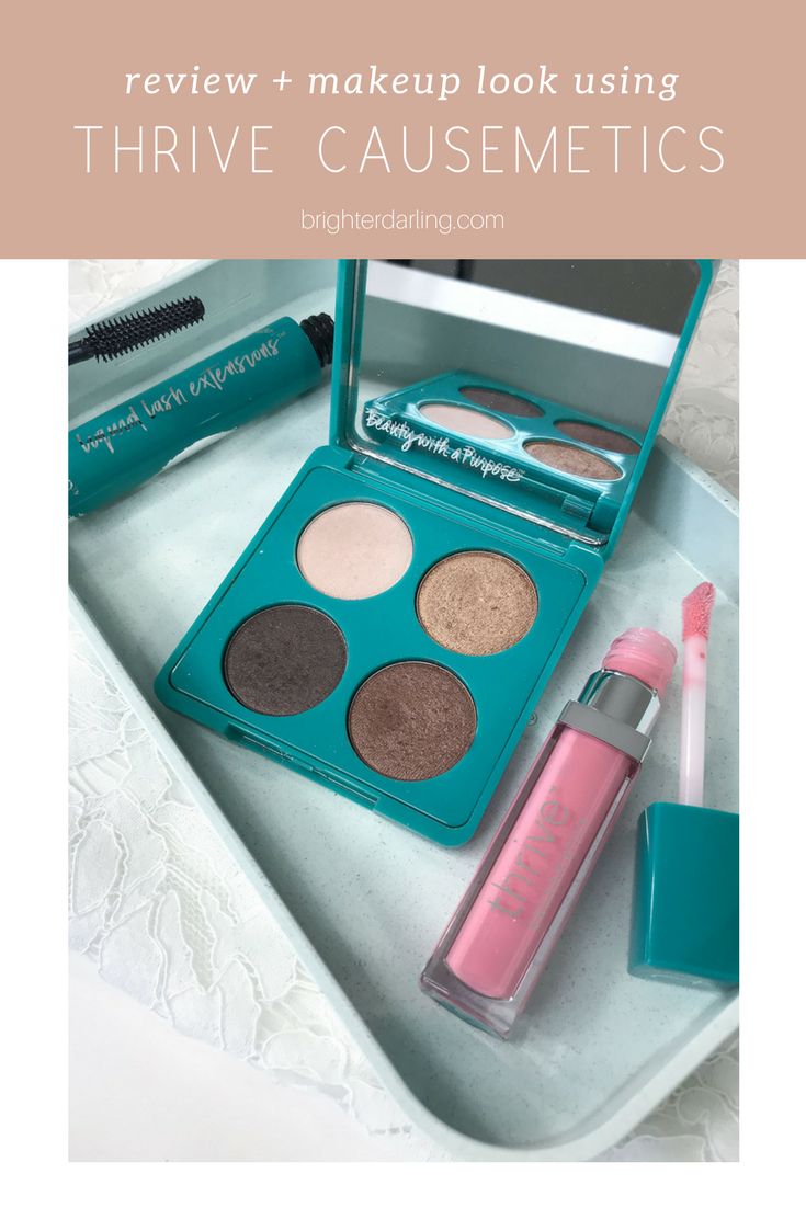 review and makeup look using thrive causemetics | thrive causemetics review