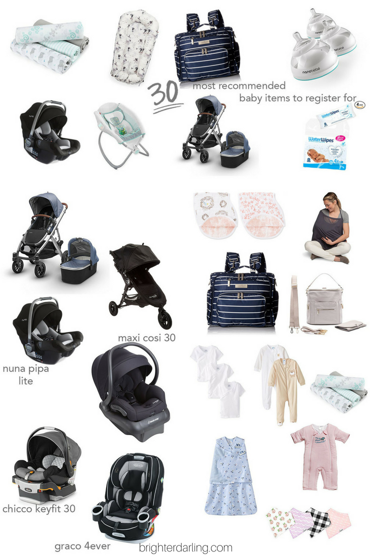 30 Most Recommended Baby Items To Register For 2018