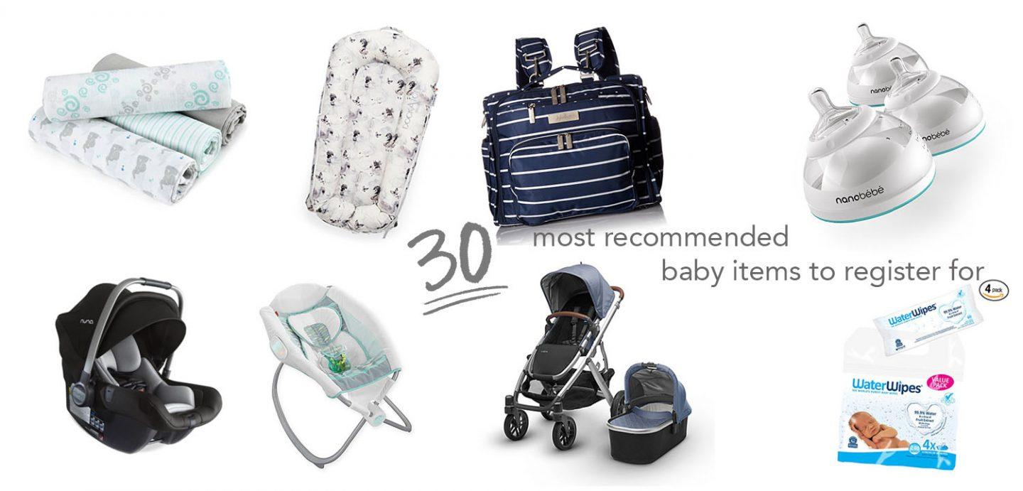 most recommended baby items to register for 2018 | brighter darling blog | expecting october 2018
