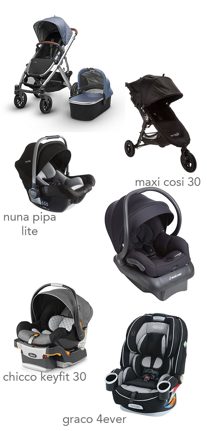 most recommended baby items to register for car seats strollers 2018