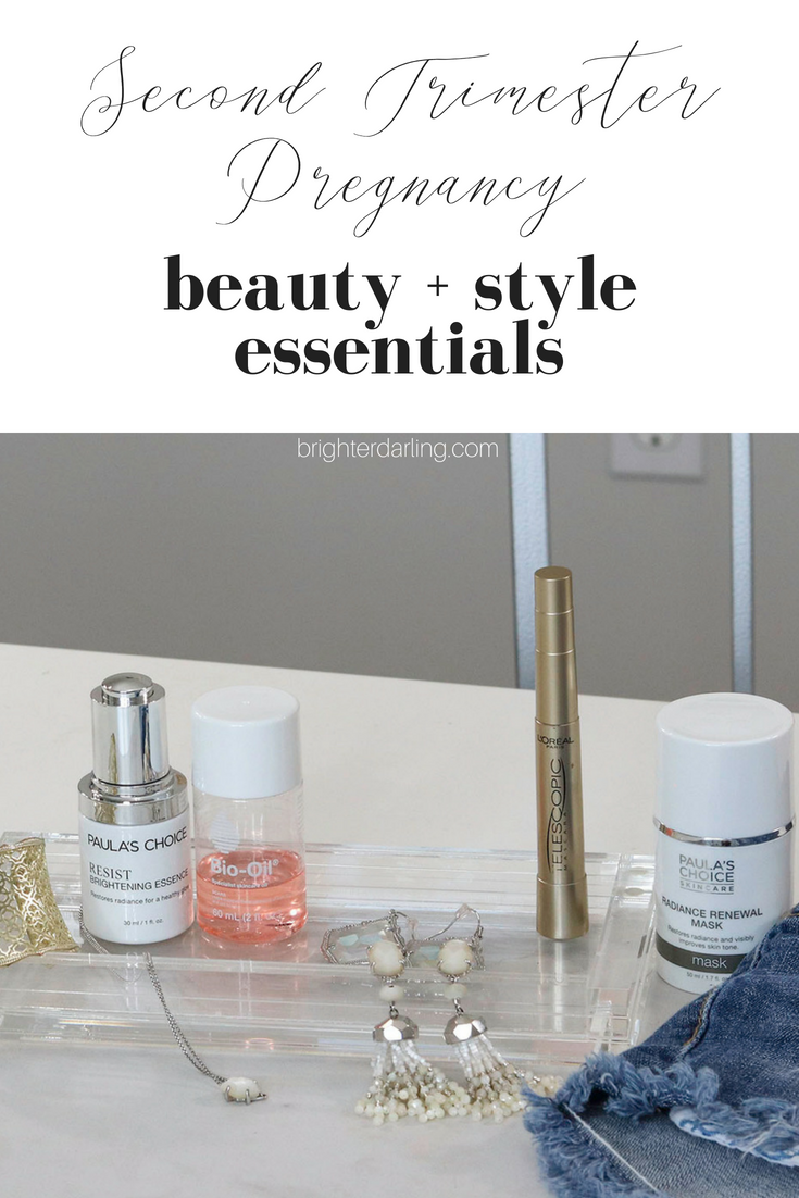 2nd Trimester - Pregnancy Beauty and Style Essentials for Summer Pregnancy _Brighter Darling Blog