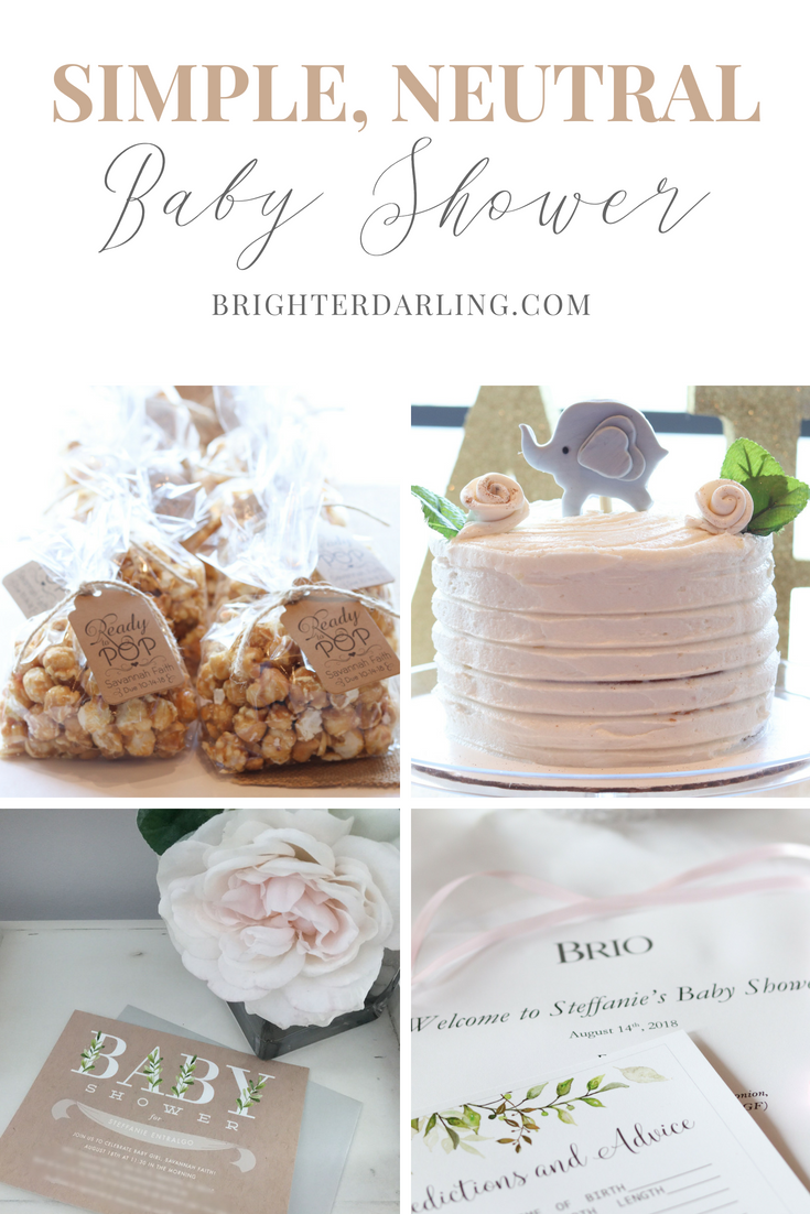 Simple Neutral Baby Shower For Baby Girl Decor and Inspiration | Rustic Botanical Baby Shower Ideas | Baby Elephant Baby Shower Ideas