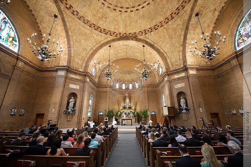 steffanie and blake wedding basilica shrine saint mary wilmington nc
