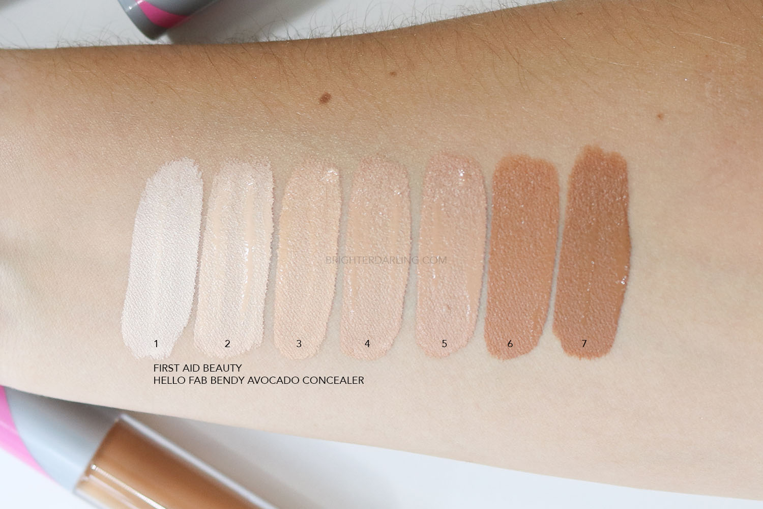 First Aid Beauty Hello Fab Bendy Avocado Concealer Review | FIRST AID BEAUTY HELLO FAB BENDY AVOCADO CONCEALER SWATCHES | Brighter Darling Blog