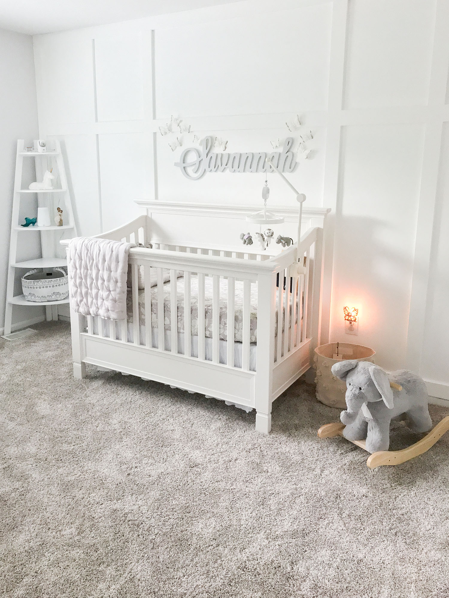 Pregnancy Files Lavender And Grey Baby Nursery Tour