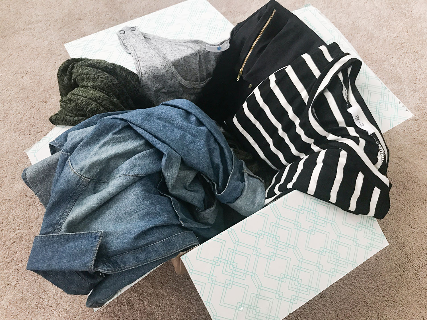 Stitch Fix Maternity Review Unboxing and Try On   Brighter Darling