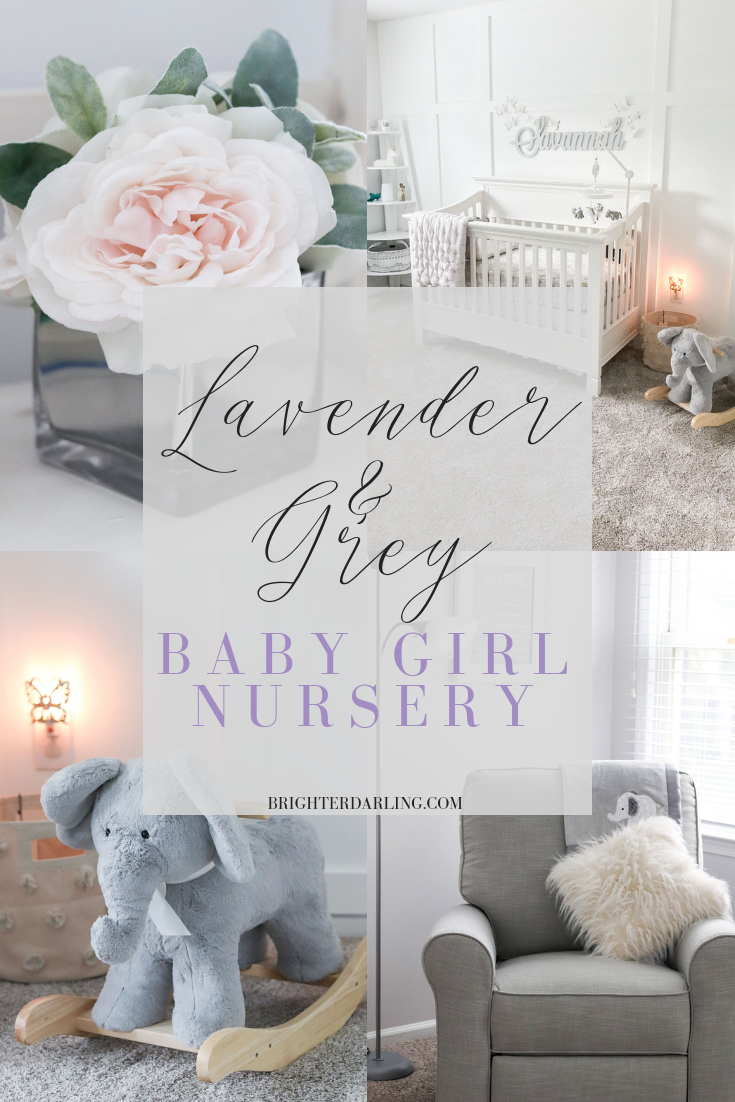 LAVENDER AND GREY BABY GIRL NURSERY TOUR INSPIRATION AND IDEAS | BRIGHTER DARLING BLOG