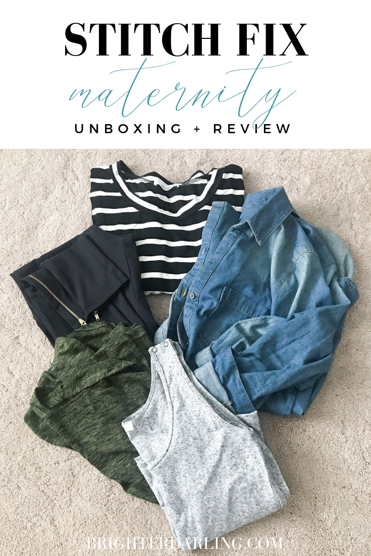 STITCH FIX MATERNITY UNBOXING AND REVIEW BRIGHTER DARLING BLOG