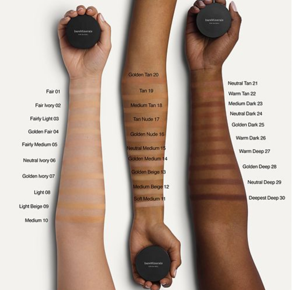 new bareMinerals original powder foundation shades 2018
