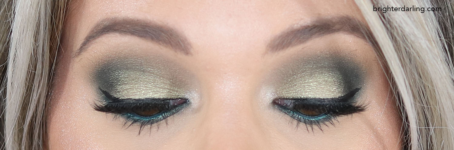 Close Up Green Eye Look Using Makeup Revolution The Emily Edit The Wants