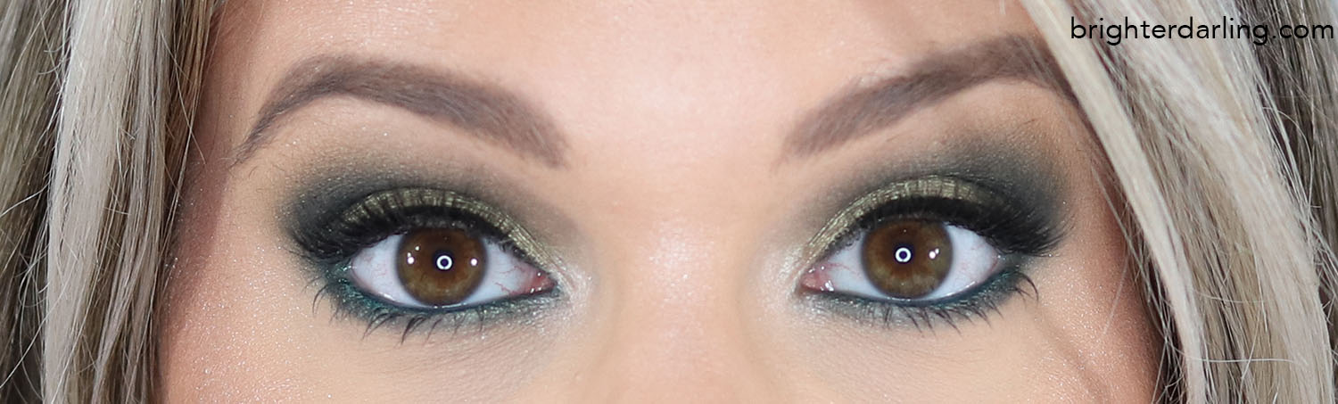 Close Up Green Eye Look Using Makeup Revolution The Emily Edit The Wants Palette