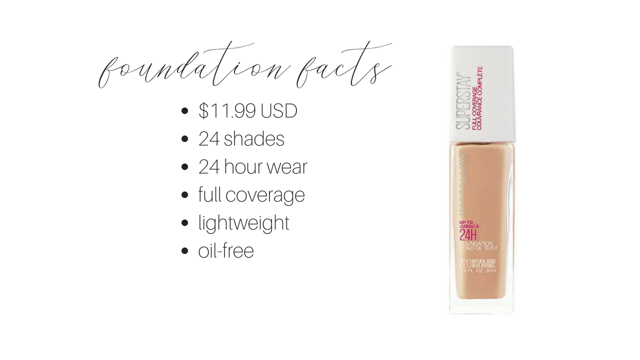 maybelline superstay foundation review | maybelline superstay foundation facts | brighter darling blog
