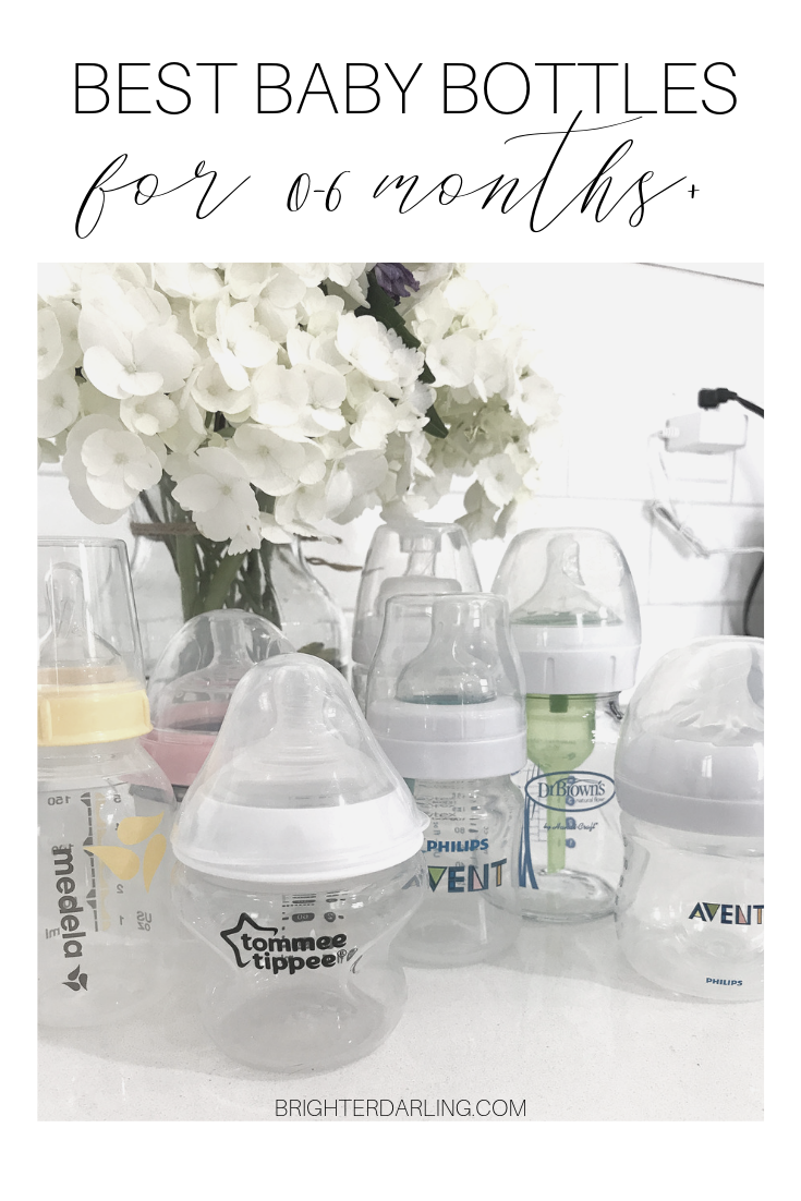 BEST BABY BOTTLES FOR 0-6 MONTHS | BRIGHTER DARLING BLOG