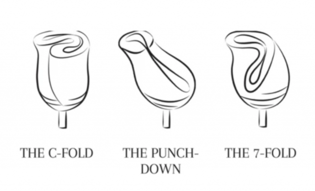 Most Popular Menstrual Cup Folding Methods | C Fold Punchdown 7 Fold