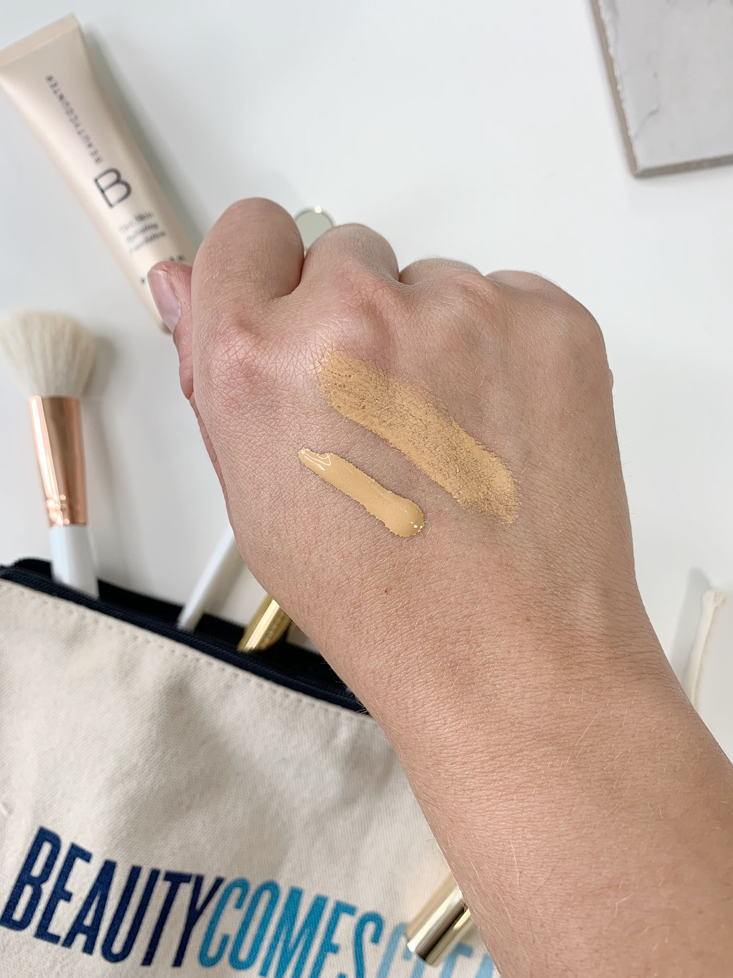 beautycounter tint skin foundation shade honey swatch | brighter darling blog