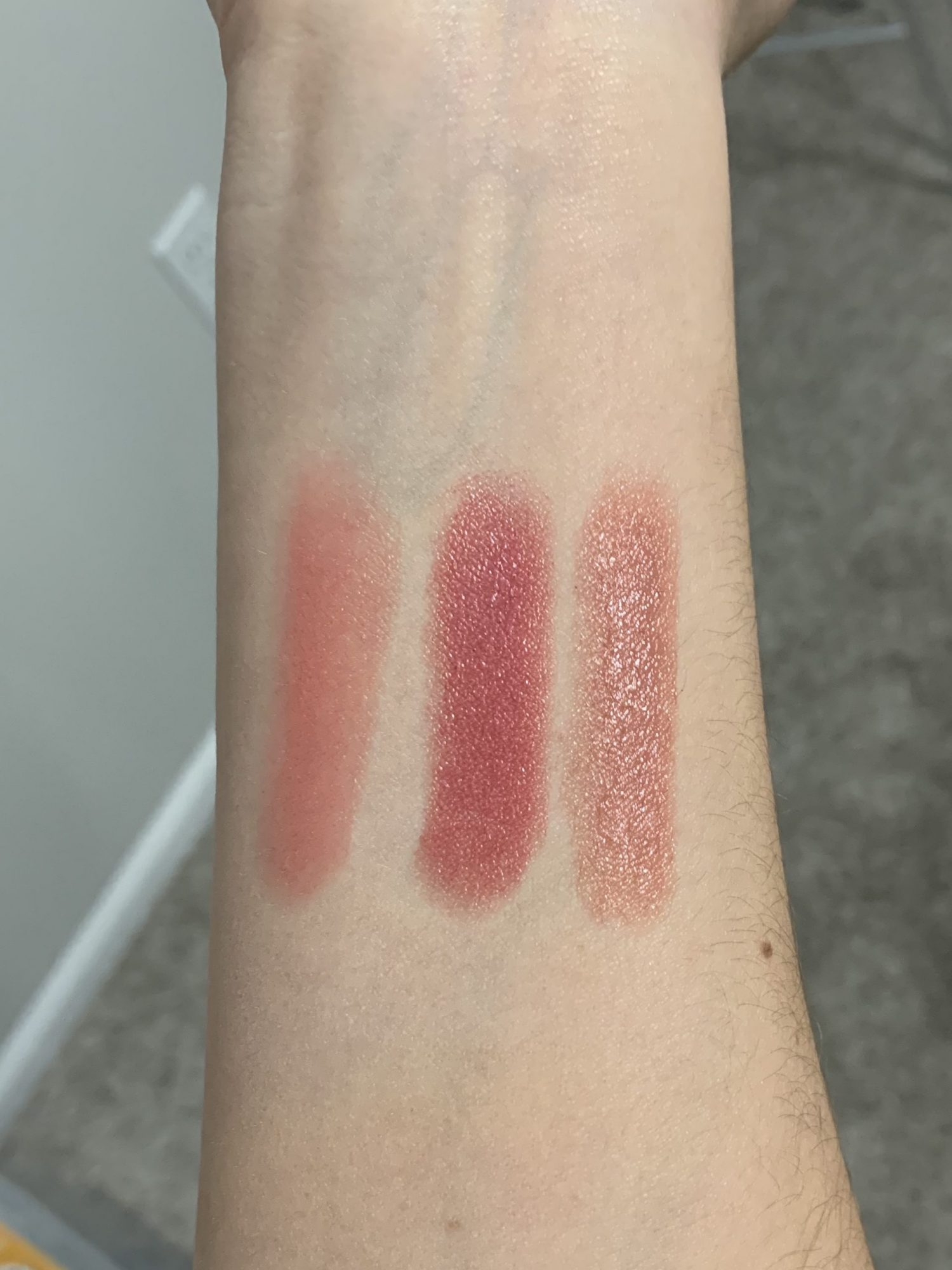 Beautycounter Sheer Lipstick Swatches Petal, Lily, Twig | 5 Favorite Beautycounter Makeup Products
