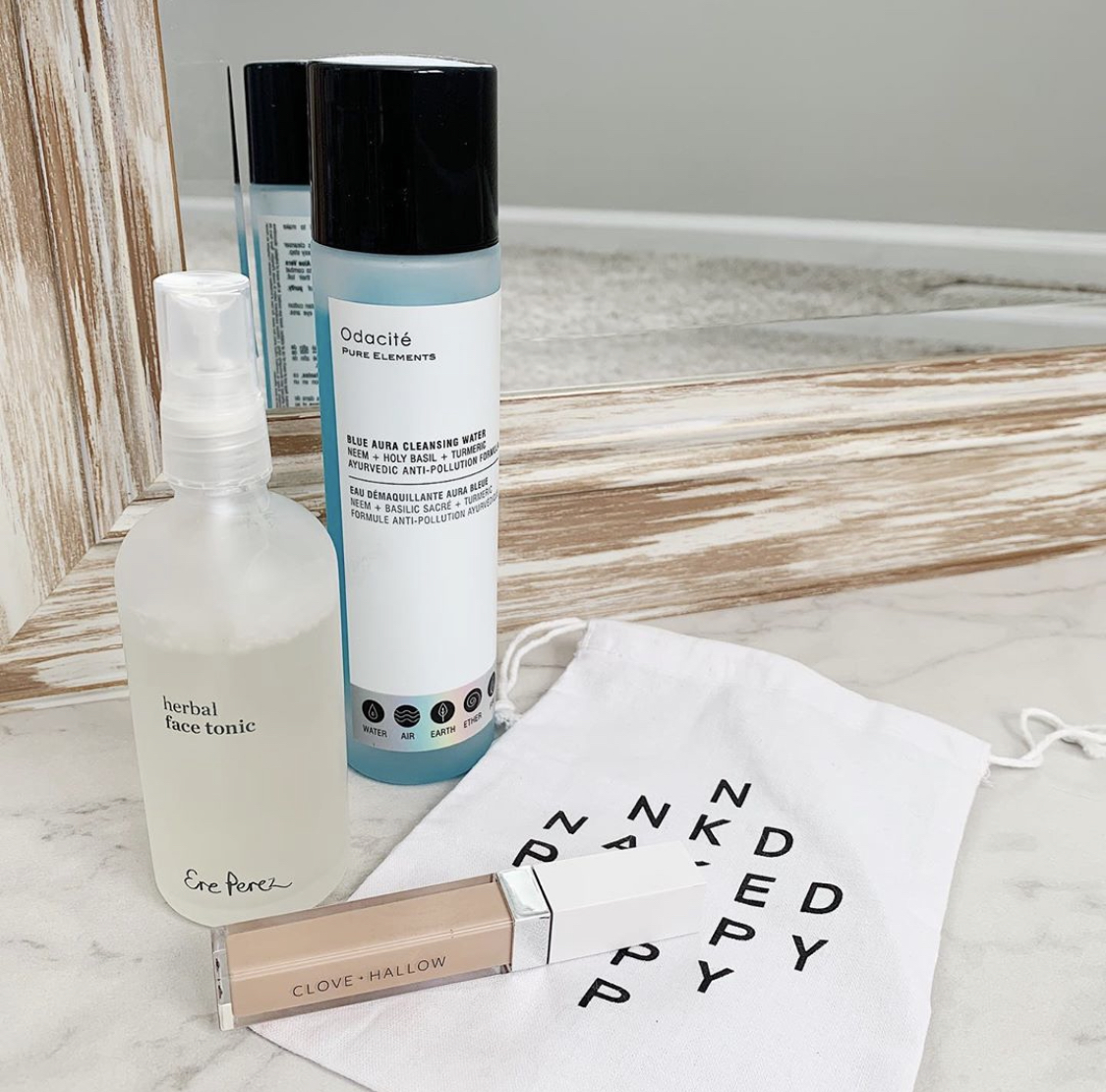 My Favorites from NakedPoppy   Trying NakedPoppy   Clove and Hallow Concealer, Blue Aura Cleansing Water Odacite, Ere Perez Face Tonic