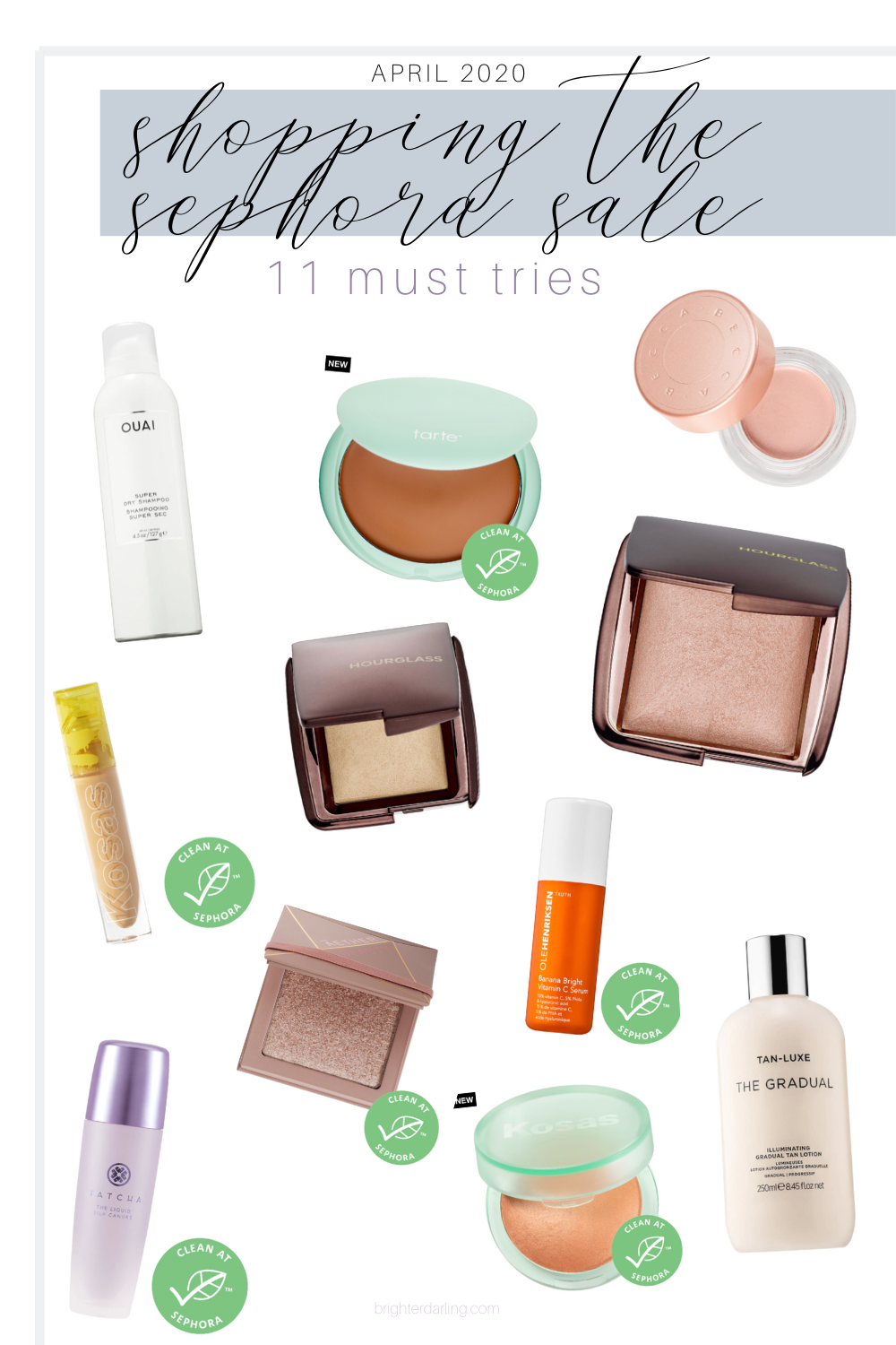 shopping the april 2020 sephora sale | clean beauty recommendations | brighter darling