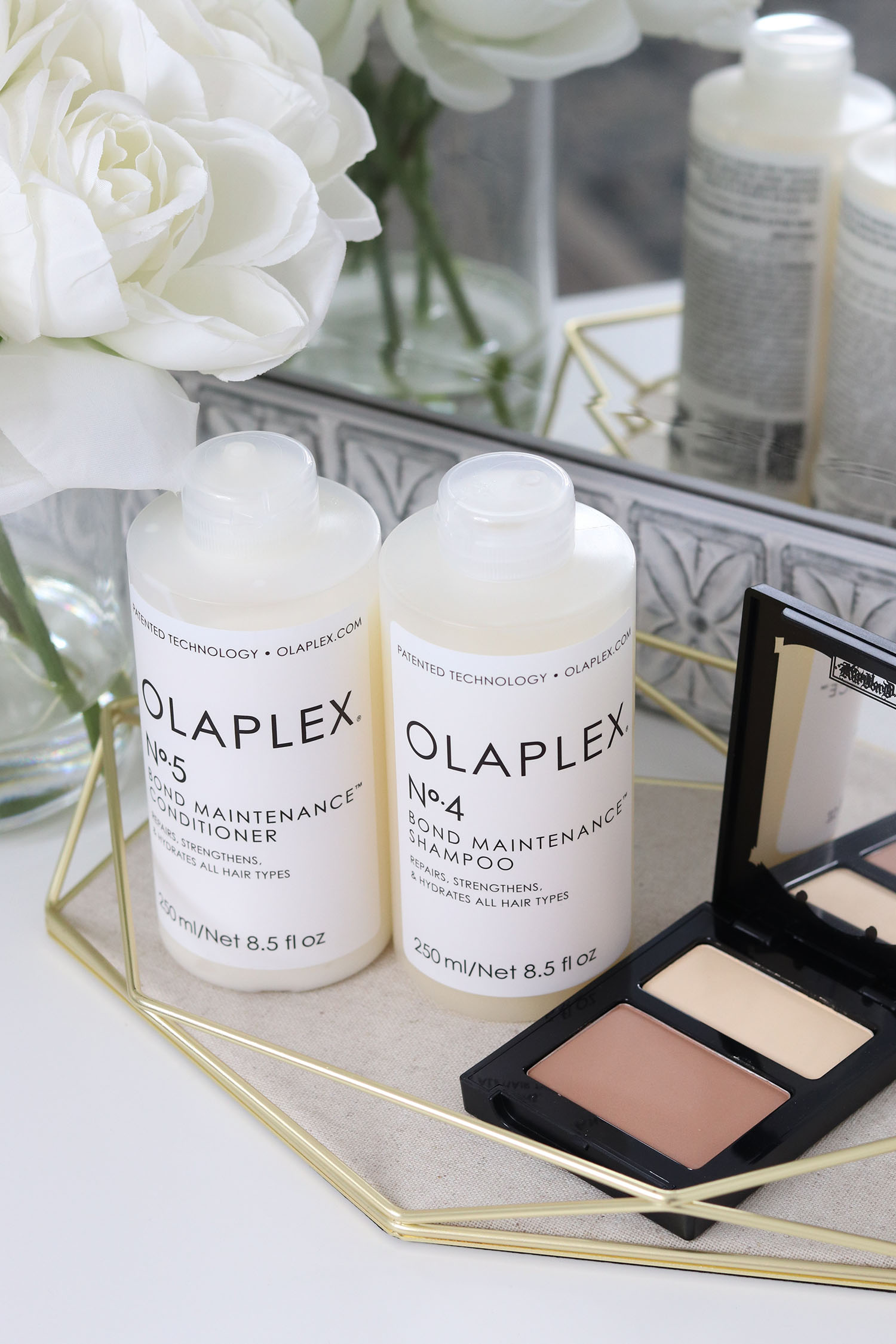 Clean High Performing Shampoo and Conditioner Clean at Sephora, Olaplex No 4 Shampoo and Olaplex No 5 Conditioner, KVD Beauty Mini Shade Light Contour Palette | Spring Beauty Haul