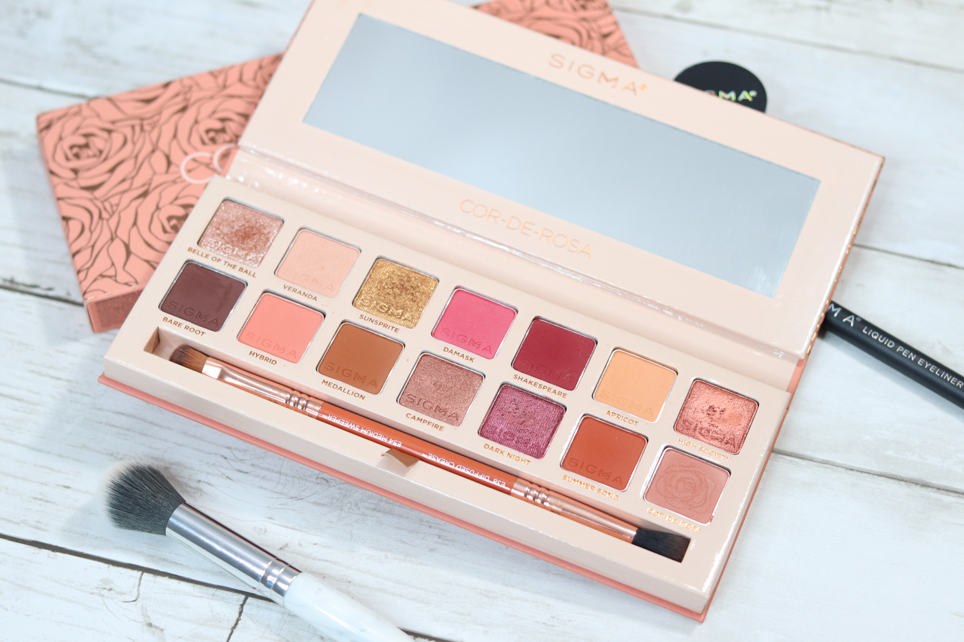 Reviewing SIGMA Cor De Rosa Eyeshadow Palette