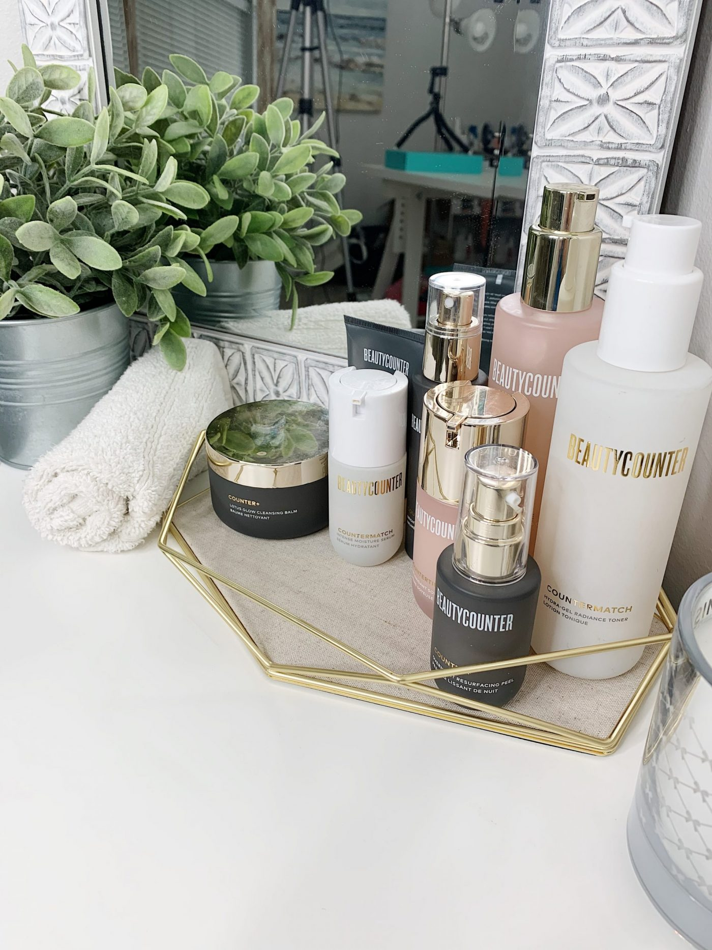 Beautycounter Skincare Favorites on a Tray | Joining Beautycounter