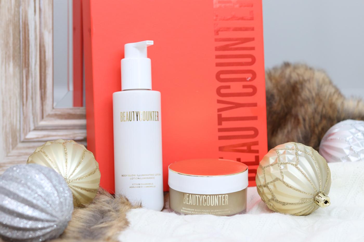Beautycounter Good Glow Body Duo | Nontoxic sparkly body lotion and sugar body scrub