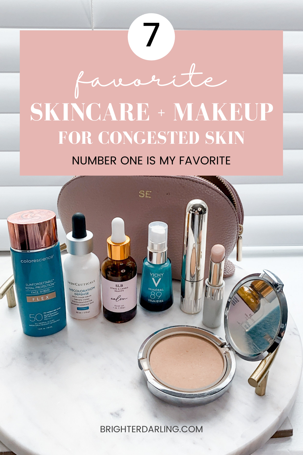 7 Favorite Skincare And Makeup For Congested Skin | Best Facial Oil Congested Skin | Best Mineral SPF Tinted Moisturizer Acne Prone Skin | Best Clean Setting Powder Acne Prone Skin