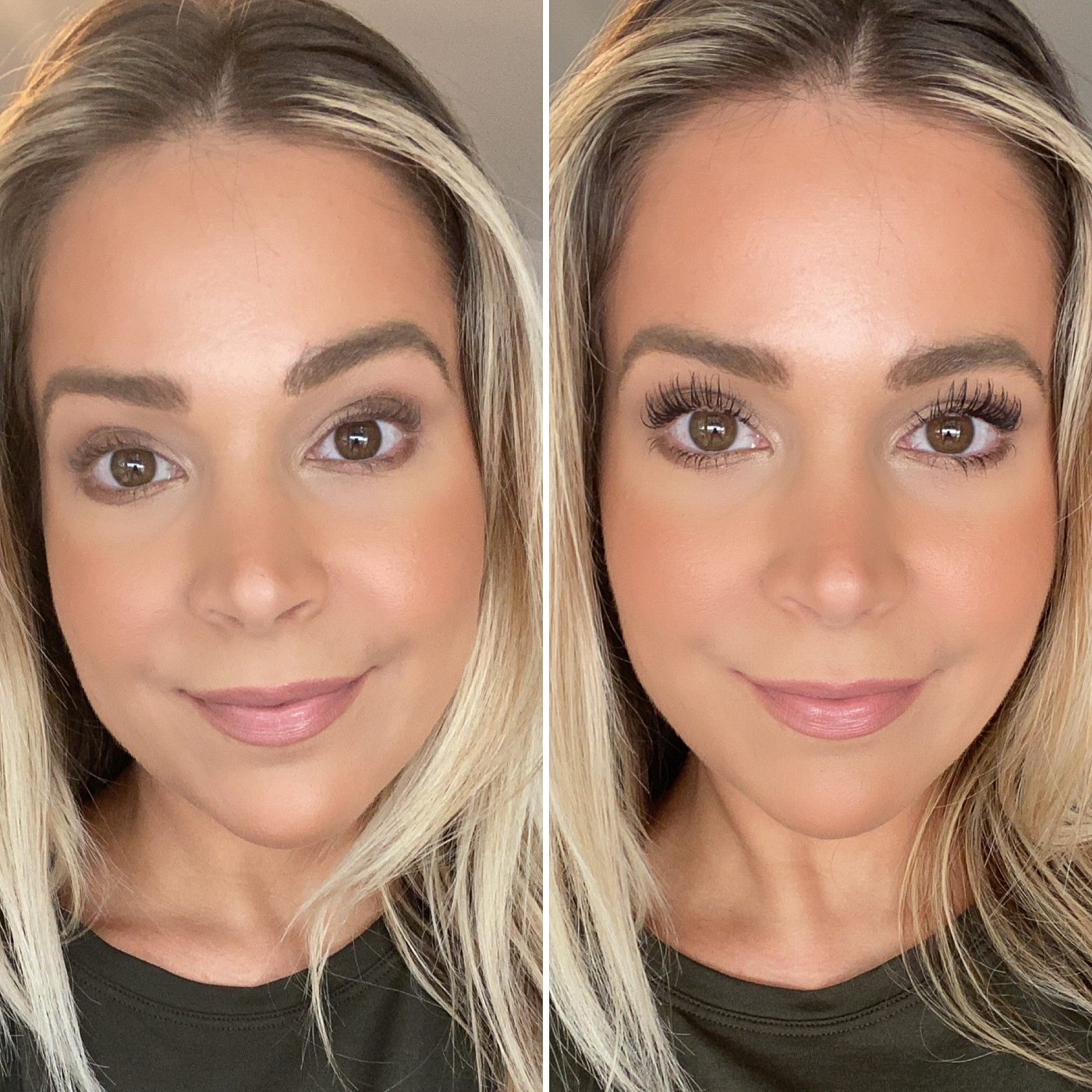 Before and After Beautycounter Think Big Mascara