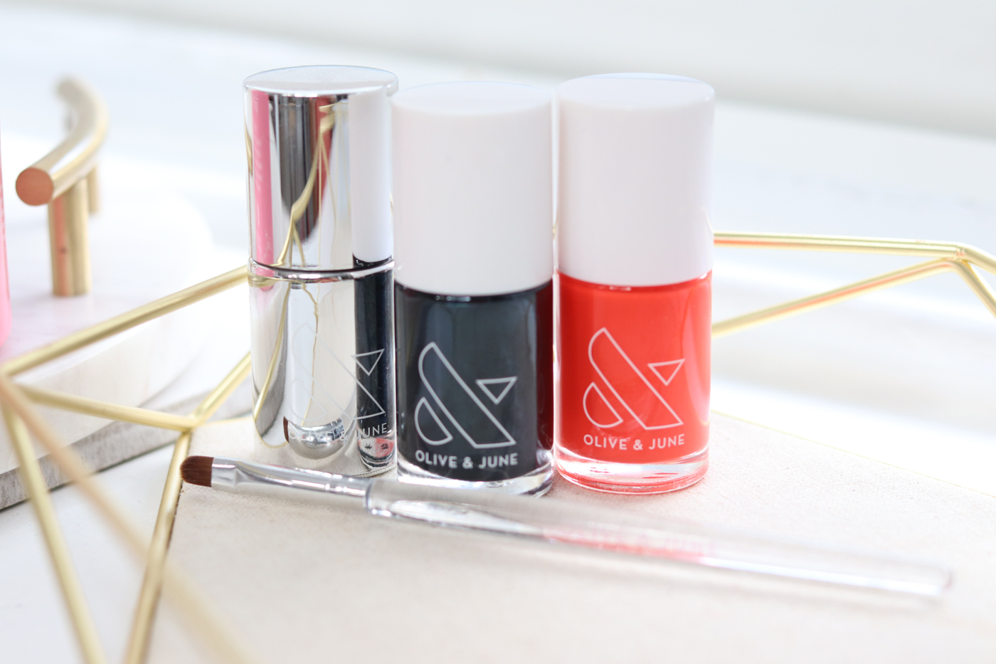 Olive and June HJ and LAVA Shades | Olive and June Nail Polish Review